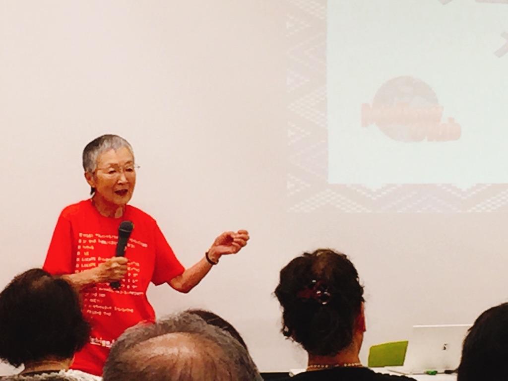 82歳の「hinadan」開発者、若宮正子さんのトークショー